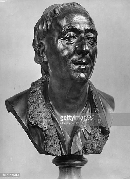 Diderot Denis writer philosoph France brazen bust of the artist J B Pigalle undated Vintage property of ullstein bild