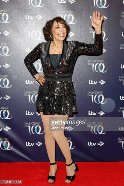 Didi Conn during a photocall for the new series of Dancing On Ice at the Natural History Museum Ice Rink on December 18 2018 in London England