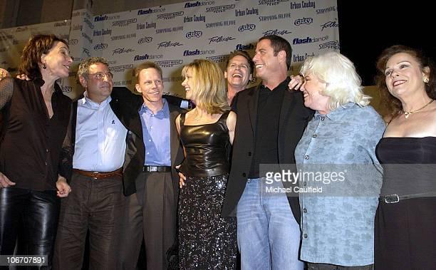 Didi Conn Michael Tucci Kelly Ward Olivia NewtonJohn Jeff Conaway John Travolta Jamie Donnelly and Karen Lynn Gorney of Grease and/or Saturday Night...