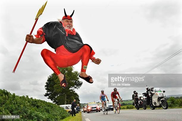 Didi Devil Senf during stage 2 of the 2008 tour de France between Auray and SaintBrieuc