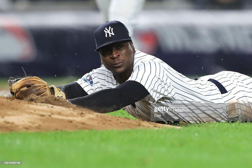 Divisional Round - Boston Red Sox v New York Yankees - Game Three : News Photo