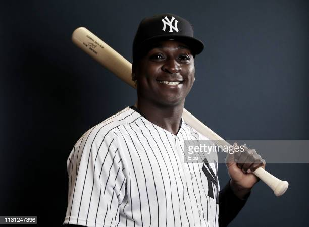 Didi Gregorius of the New York Yankees poses for a portrait during the New York Yankees Photo Day on February 21 2019 at George M Steinbrenner Field...