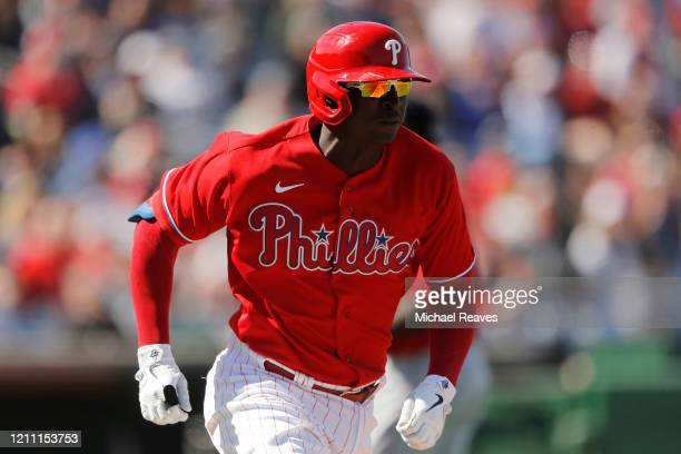 Didi Gregorius of the Philadelphia Phillies at bat against the Boston Red Sox during a Grapefruit League spring training game on March 07 2020 in...