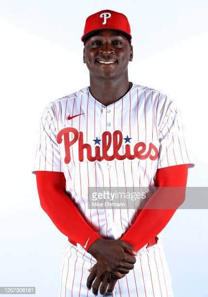Didi Gregorius of the Philadelphia Phillies poses for a portrait during photo day at Spectrum Field on February 19 2020 in Clearwater Florida
