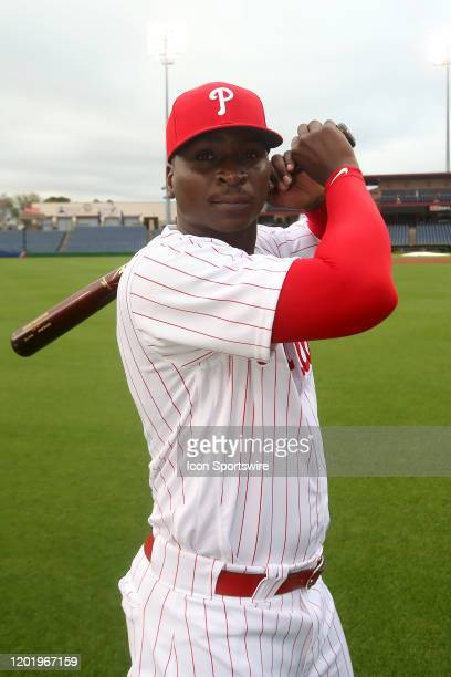 Didi Gregorius of the Phillies poses during the Philadelphia Phillies Photo Day on February 19 at Spectrum Field in Clearwater FL