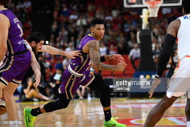 Didi Louzada of Sydney Kings in action during the round 14 NBL match between the Sydney Kings and the Cairns Taipans at Qudos Bank Arena, on April 17...