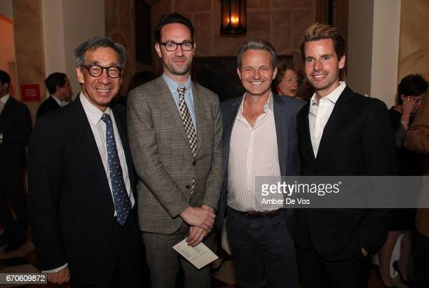 Didi Pei Oli Coleman Chris Hayes and James G Brooks Jr attend the FIAF and Carnegie Hall Young Patrons Spring Concert Cocktail at the French...