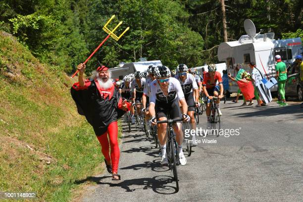 Didi Senf of Germany Devil / Luke Rowe of Great Britain and Team Sky / Peloton / during the 105th Tour de France 2018 Stage 11 a 1085km stage from...