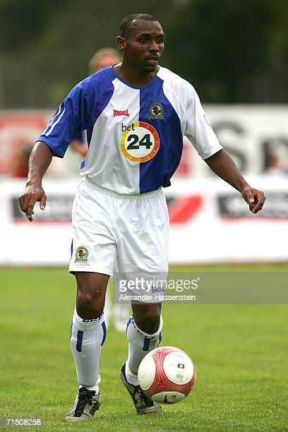 Didier Agathe of Blackburn with the ball at his feet during the friendly match between Hamburger SV and Blackburn Rovers on July 23 2006 in Kufstein...