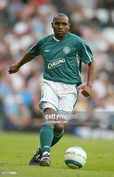 Didier Agathe of Celtic in action during Preseason Friendly match between Fulham and Celtic at Craven Cottage on July 18 2004 in Oxford England