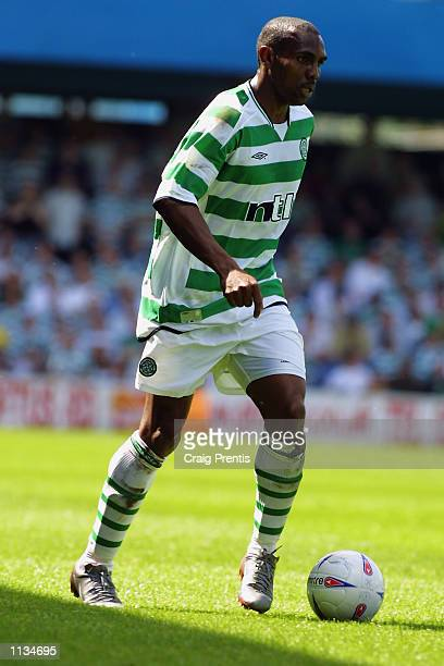 Didier Agathe of Celtic runs with the ball during the PreSeason Friendly match between Queens Park Rangers and Celtic played at Loftus Road in London...