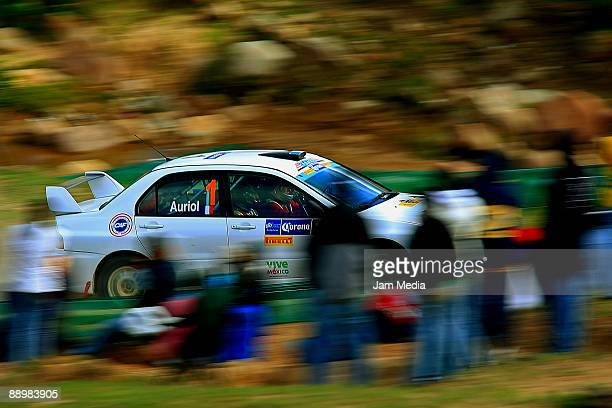 Didier Auriol and Denis Giraudet of France in action during the second day of the Rally of Nations Mexico 2009 on July 11 2009 in Leon Mexico