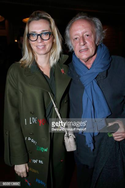 Didier Barbelivien and his wife Laure attend Sylvie Vartan performs at Le Grand Rex on March 16 2018 in Paris France