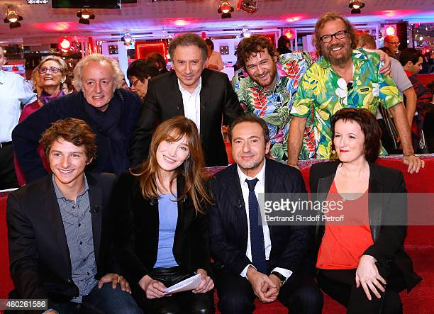 Didier Barbelivien Michel Drucker Olivier de Benoist Antoine Paul Hignard main guest of the show Carla Bruni Patrick Timsit and Anne Roumanoff attend...