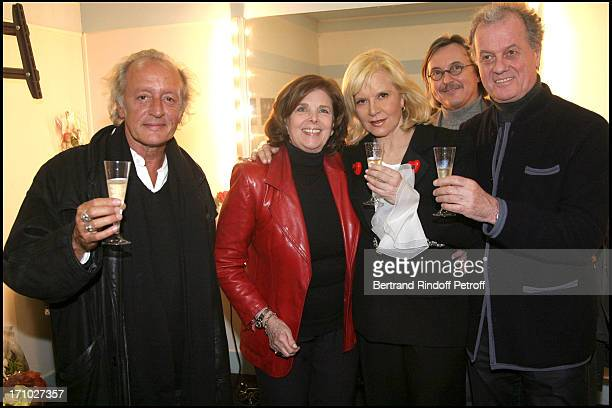 Didier Barbelivien Sylvie Vartan Pierre Passebon and Jacques Grange at Sylvie Vartan In Concert At The Olympia In Paris