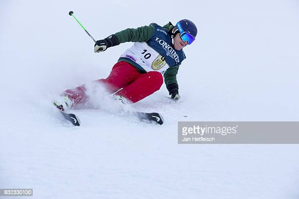 Didier Cuche speeds down the slope at the KitzCharityTrophy on January 21 2017 in Kitzbuehel Austria