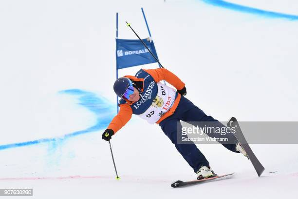 Didier Cuche takes part in the KitzCharityTrophy on January 20, 2018 in Kitzbuehel, Austria.