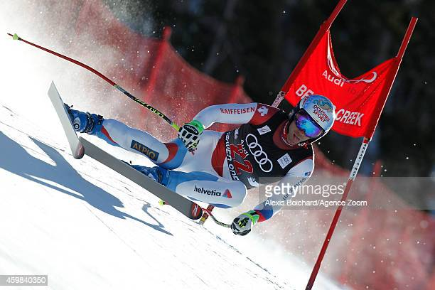 Didier Defago of Switzerland competes during the Audi FIS Alpine Ski World Cup Men's Downhill Training on December 02 2014 in Beaver Creek Colorado