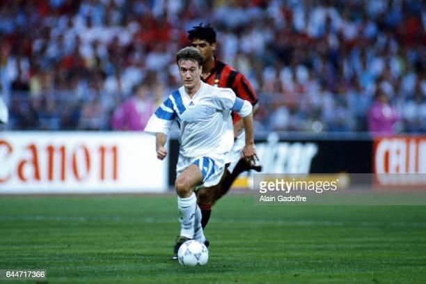 Didier Deschamps Marseille / Milan AC Finale de la Ligue des Champions 1993 Photo Alain Gadoffre / Icon Sport