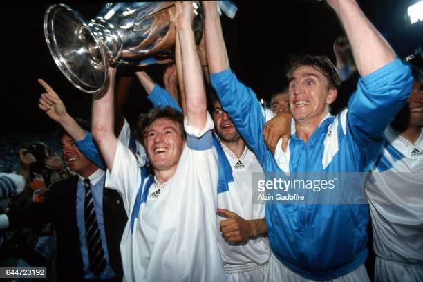 Didier Deschamps / Alen Boksic Marseille / Milan AC Finale de la Ligue des Champions 1993 Photo Alain Gadoffre / Icon Sport