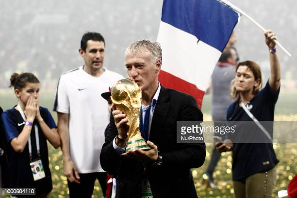 Didier Deschamps during Russia 2018 World Cup final football match between France and Croatia at the Luzhniki Stadium in Moscow on July 15 2018