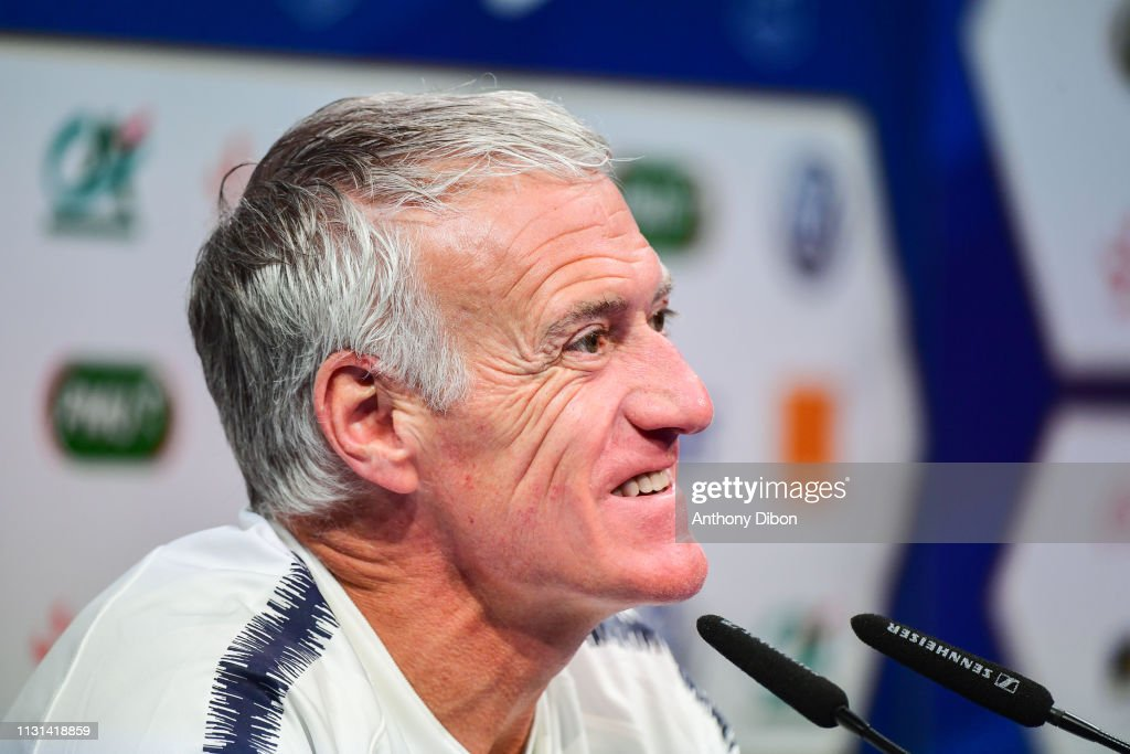 FRA: French Football Team Training Session and Press Conference -
