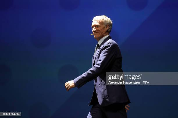 Didier Deschamps walks onto the stage during the FIFA Women's World Cup France 2019 Draw at La Seine Musicale on December 8 2018 in Paris France