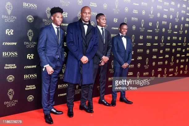 Didier DROGBA and his sons during the Ballon D'Or 2019 on December 2 2019 in Paris France