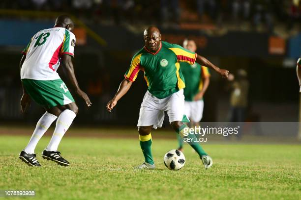 Didier Drogba from Team Generation 2002 during the match of the Legends in homage of Jules Francois Bocande on January 7 at the Leopold Sedar Senghor...