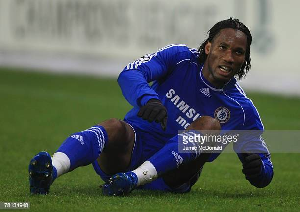 Didier Drogba looks on Chelsea during the Champions League Group B match between Rosenborg BK and Chelsea at the Lerkendal Stadium on November 28...