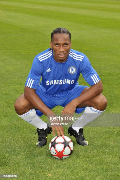 Didier Drogba of Chelsea during the photo call at the Cobham Training ground on August 20 2009 in Cobham Surrey