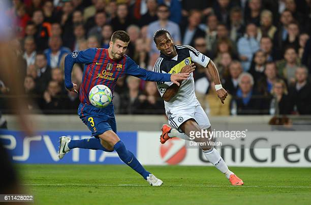 Didier Drogba of Chelsea during the UEFA Champions League Semi Final second leg match between FC Barcelona and Chelsea FC at Camp Nou on April 24...