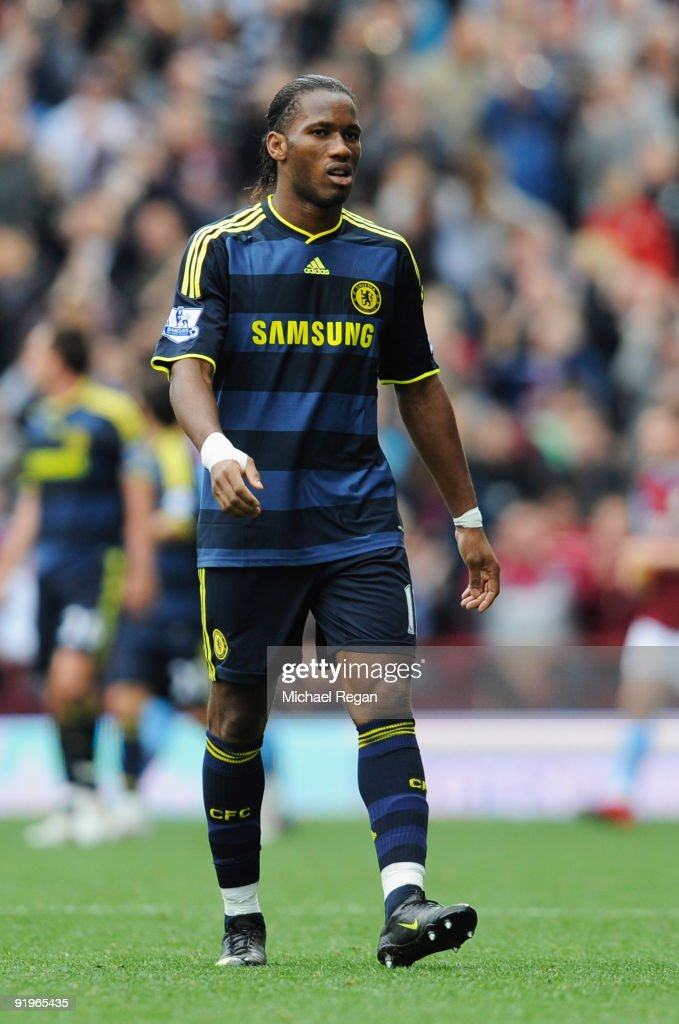 Didier Drogba of Chelsea looks dejected after defeat during the Barclays Premier League match between Aston Villa and Chelsea at Villa Park on October 17, 2009 in Birmingham, England.