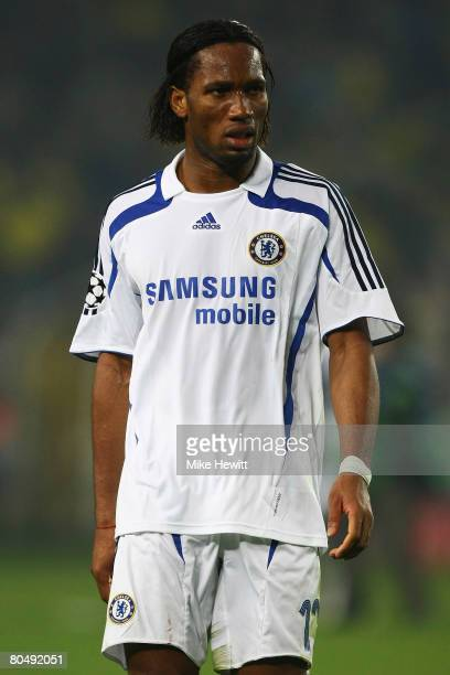 Didier Drogba of Chelsea looks dejected after losing the UEFA Champions League Quarter Final 1st Leg match between Fenerbache and Chelsea at the...