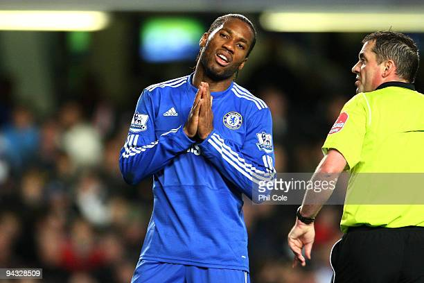 Didier Drogba of Chelsea reacts after a missed chance on goal during the Barclays Premier League match between Chelsea and Everton at Stamford Bridge...