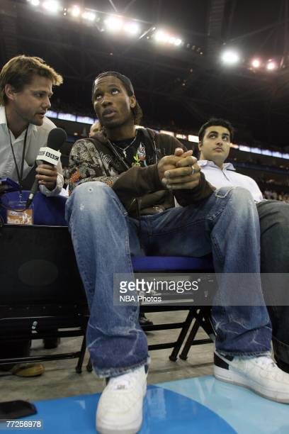 Didier Drogba of Chelsea watches the game between Boston Celtics and Minnesota Timberwolves during NBA Europe Live 2007 Tour London October 10, 2007...