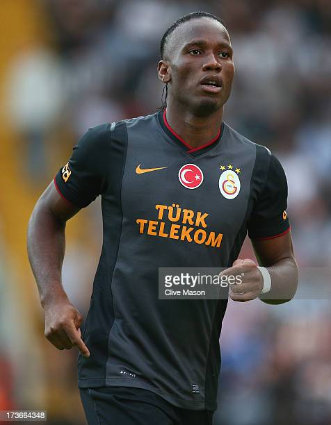 Didier Drogba of Galatasaray in action during the pre season friendly match between Notts County and Galatasaray at Meadow Lane on July 16 2013 in...