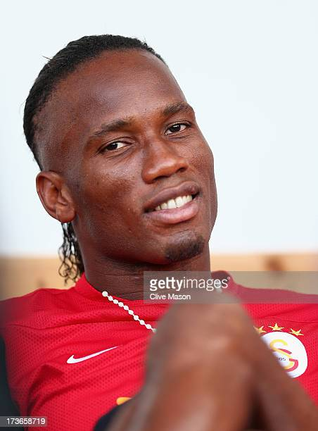 Didier Drogba of Galatasaray looks on from the bench during the pre season friendly match between Notts County and Galatasaray at Meadow Lane on July...