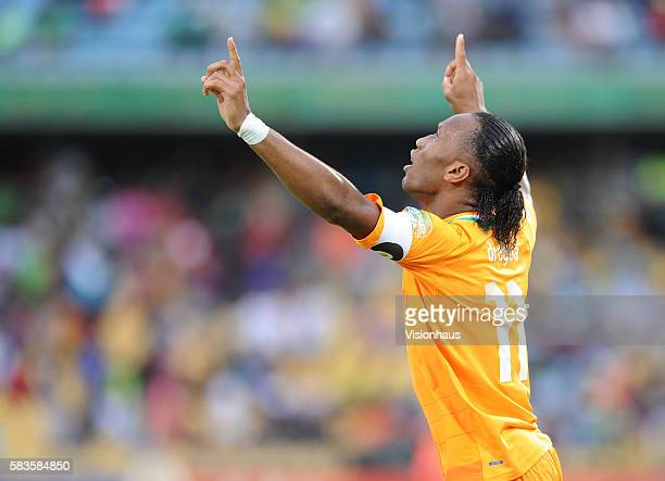 Didier Drogba of Ivory Coast during the 2013 African Cup of Nations Quarter Final match between Ivory Coast and Nigeria at the Rustenburg Stadium in...