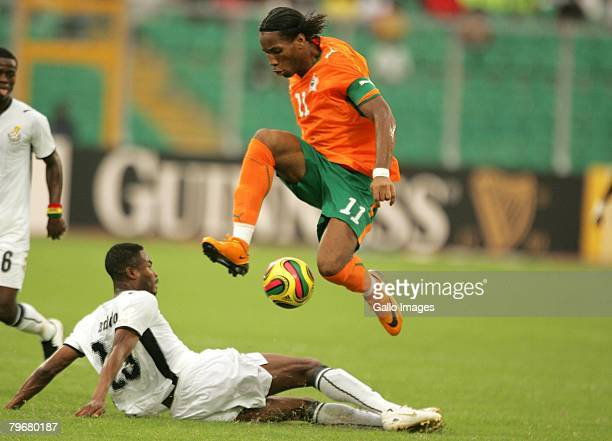 Didier Drogba of Ivory Coast in action during the AFCON 3rd Place Playoff between Ghana and Ivory Coast held at the Baba Yara Stadium February 9,...