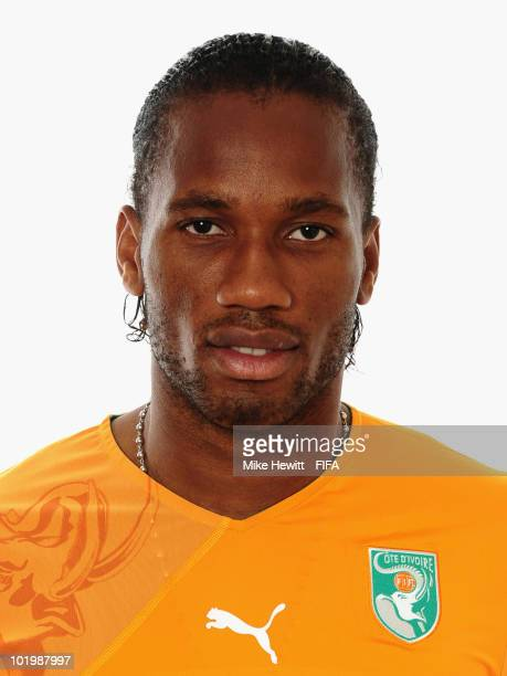 Didier Drogba of Ivory Coast poses for a portrait during the 2010 FIFA World Cup on June 11 2010 in Vanderbijlpark South Africa