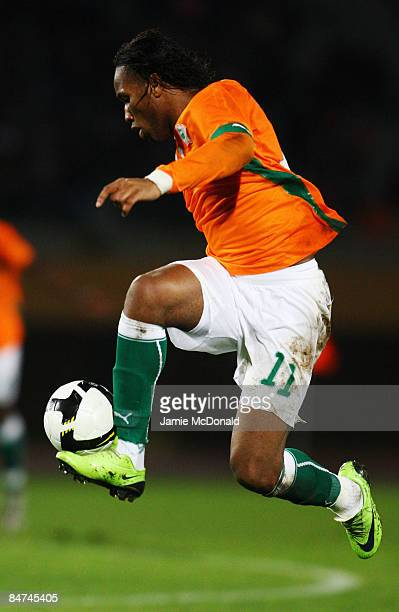 Didier Drogba of Ivory Coast runs with the ball during the International Friendly match between Turkey and Ivory Coast at the Izmir Ataturk Stadium...