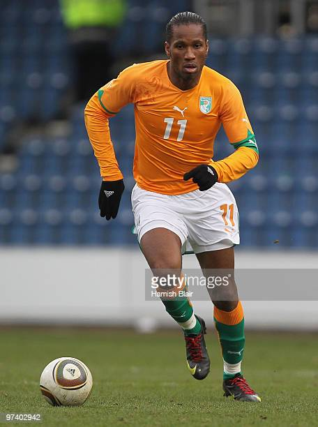 Didier Drogba of Ivory in action during the International Friendly match between Ivory Coast and Republic of Korea played at Loftus Road on March 3...