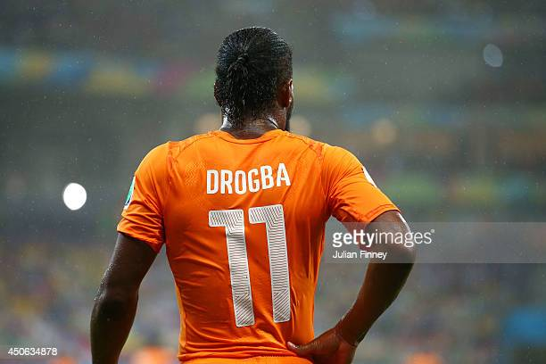 Didier Drogba of the Ivory Coast during the 2014 FIFA World Cup Brazil Group C match between the Ivory Coast and Japan at Arena Pernambuco on June 14...