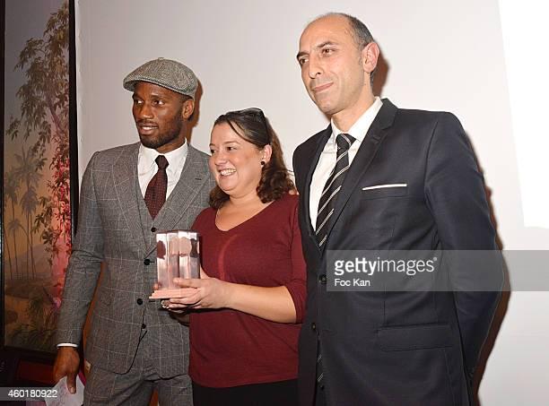 Didier Drogba 'Prix De La Femme D'Influence Coup de Coeur ' conductor Zahia Ziouani's twin sister Fettouma Ziouani and Jean Charles Viti from...