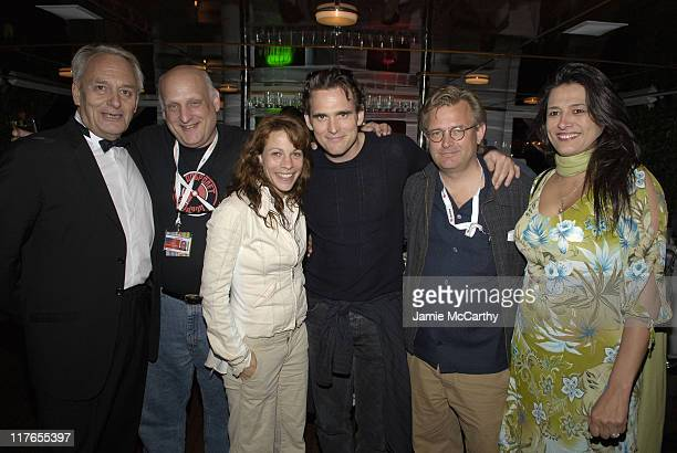 "Didier Flamand, Jim Stark, producer of ""Factotum, Lili Taylor, Matt Dillon, Bent Hamer, director of ""Factotum"" and Christine Walker, executive..."