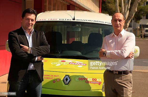 Easy Take A Low Cost Taxi Company In Avignon Stock Photos And