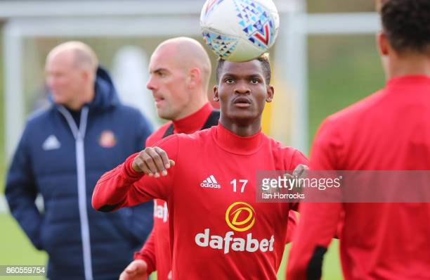 Didier N'Dong during a Sunderland AFC training session at The Academy of Light on October 12 2017 in Sunderland England