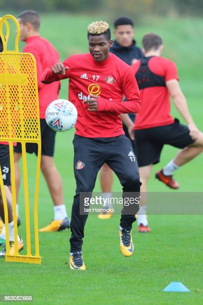 Didier N'Dong during a Sunderland AFC training session at The Academy of Light on October 19 2017 in Sunderland England