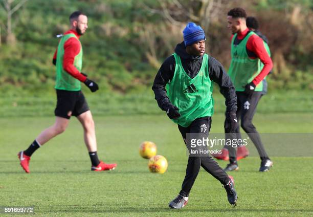 Didier N'Dong during a Sunderland training session at The Academy of Light on December 13 2017 in Sunderland England
